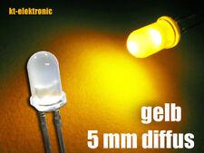 100 Stück LED 5mm gelb matt/diffus superhell