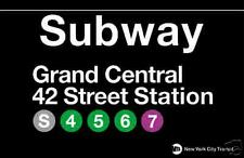 Grand Central New York City Subway Station Sign Metal
