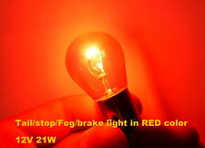 2x Genuine Philips PR21W 21W Tail 12088 Stop brake Fog signal light Red color