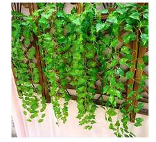 ue06 Fake Foliage Artificial Ivy Leaf Plants Vine Flowers Home Decor 7.62ft