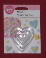 Heart Cut Out,Wilton,Fondant,Gum Paste Cutter Set,Metal,Silver,417-434,3 Pc.
