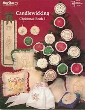 ShariAne CANDLEWICKING Christmas Book 1 1983 Craft Patterns & Instructions