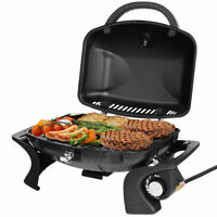 Portable Propane Gas Grill BBQ Tabletop Camping Barbecue Yard Outdoor Black