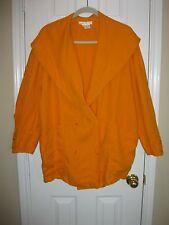 Vintage NANCY HELLER Apricot Linen Blazer Jacket ~ Sz 8 ~ A Great Find!