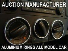 VW Polo 9N 9N2 2001-2009 Alluminio Anello Ventilazione Anelli Cromati 3 pezzi