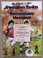 1979-80 SWINDON TOWN V SPURS FA CUP 4TH RND PROGRAMME & TICKET