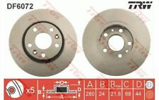 2x TRW Front Brake Discs Vented 280mm for DACIA DUSTER DF6072 - Mister Auto