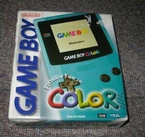 BRAND NEW Nintendo Game Boy Gameboy Color TEAL Console ~ SEALED ~ Rare Handheld!