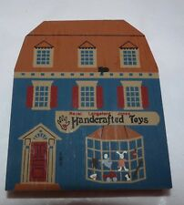 1989 Faline Cat's Meow Painted Wood Block Royal Langsford Jones Handcrafted Toys