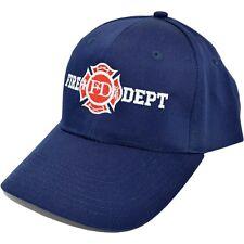 Navy Blue Firefighter Maltese Cross Fireman Baseball Cap Hat Fire Rescue Dept