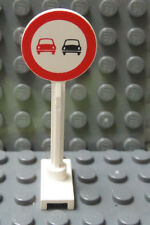 LEGO Classic Town Road Sign No Overtake or Do Not Pass