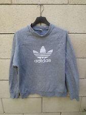 Sweat ADIDAS vintage TREFOIL shirt gris VENTEX années 80 coton oldschool 168 S