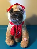 GEMMY ANIMATED SINGING PLUSH CHRISTMAS DOG TWAS THE NIGHT BEFORE CHRISTMAS BLUES