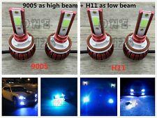 9005+H11 8000K ICE BLUE Combo LED Headlight Bulbs Kit High Low Beam Super Bright