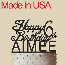 """Personalized Birthday Cake Topper, Acrylic,Birthday Gift with Name and Age 5"""""""
