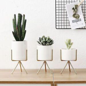 Shelf Flower Vases Metal Plant Pot Holders Modern Home Decoration Accessories