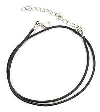 Schmuck Pu Halskette Kunstleder Lederband geflochten Schwarz Stärke 2mm Halsband