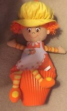 """LIttle Miss Muffin Yellow and Orange Girl Plush Doll 20"""""""