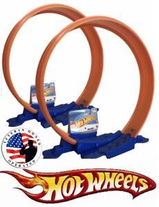 2 Hot Wheels Loop Builder Race Track