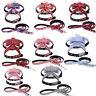 Dog Harness Grid Bowknot Strap Lead Adjustable Bow Tie Soft Pet Puppy Vest UK