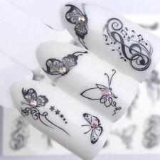 Nail Art Nagel Sticker * Tattoo Nageldesign * Music Note Schmetterlinge 3090