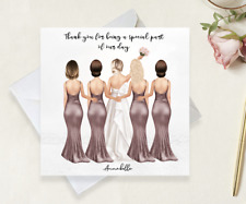 Bride Tribe Handmade Card Personalised For Bridesmaid/ Maid of Honour Gifts