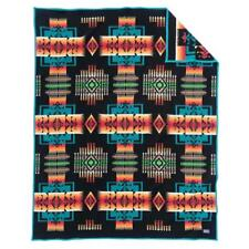 Authentic Pendleton Chief Joseph Robe Blanket - Black Twin