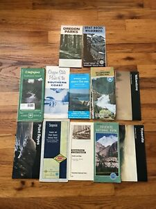 Lot of 12 Vintage National Forest National Park Map Yellowstone Yosemite Sequoia