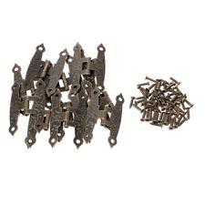12 Pcs H-type Hinge Metal Hinge Antique Wooden Box Hinge