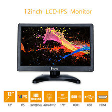 "EYOYO 12"" IPS LCD Screen HD Video Screen Monitor HDMI VGA AV BNC W/Loudspeakers"