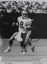 Troy Aikman Dallas Cowboys Quarterback UCLA Signed Autograph 8x10 Photo JSA 16F