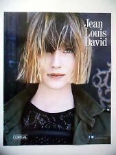 PUBLICITE-ADVERTISING :  Jean-Louis DAVID  2015 Coiffure