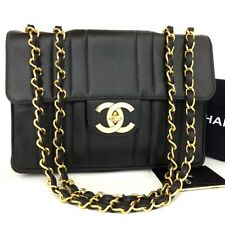 CHANEL Jumbo 30 Quilted Mademoiselle Caviar Skin w/Chain Shoulder Bag /p278
