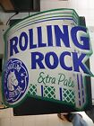 """ROLLING ROCK TIN SIGN (LARGE SIZE)  HAVE MANY R&R ITEMS """"BUNDLE TIME"""""""