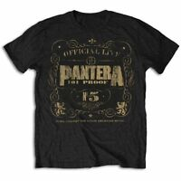 Pantera T Shirt 101% Proof Vintage Logo Official Black Mens Tee NEW Metal Rock
