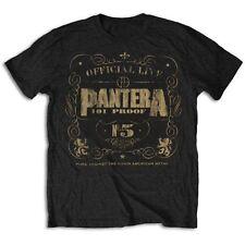 Pantera T Shirt 101% Proof Vintage Logo Official Black Mens Tee NEW Metal Rock
