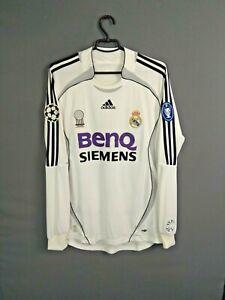 Real Madrid Jersey 2006 2007 Home Long Sleeve M Shirt Mens Camiseta Adidas ig93