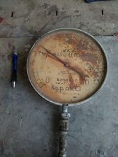Antico manometro pressione olio ALLEMANO 25 cm orologio d'epoca