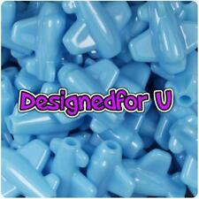 5 x 25mm Baby Blue Opaque Planes Shape Pony Beads ,IDEAL FOR DUMMY CLIPS