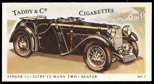 Singer 1 1/2-Litre Le Mans Two-Seater #7 Motor Cars, Cigarettes Card (C144)