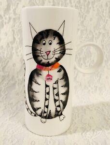 Crown Trent Cat Meg Tall Fine Bone China Coffee Cappuccino Tea Cup Mug White