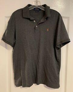 POLO Ralph Lauren Dark Gray Short Sleeve Classic Fit Cotton Polo Shirt M