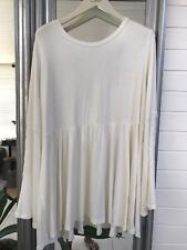 JayJay Co Mini Dress /Top Cream Bell Lace Sleeves XXL NEW + TAGS SUPER GORGEOUS