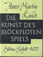 Hans-Martin Linde ~ Die Kunst des Blockflötenspiels