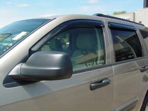 Jeep Grand Cherokee 2005 - 2010 Tape-On Wind Deflector Vent Visor Shades 4pc