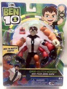 Cartoon Network Ben 10 Omni-Glitch Heroes BEN FOUR ARMS RATH 4 inch 2019