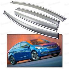 4x Window Visor Vent Shade Rain/Sun/Wind Guard for 2014-2016 Up KIA Forte Sedan