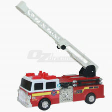 Electric Fire Truck Toy With Lights and Sounds Rescue Vehicle Extendable Ladder