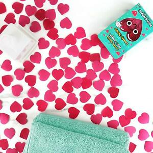 Lovely Jubbly Bath Confetti Red Heart Shaped Petals Rose Scented Water Dissolve