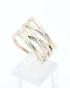 Vintage 1980s Premier Designs Silver Plated Ring, Size Q, US 8